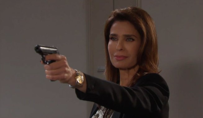 Princess Gina pulls a gun on Marlena on Days of our Lives