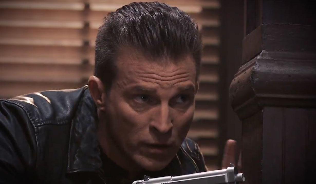 Jason preparing for a turf war on General Hospital