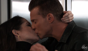 Sam and Jason kiss on General Hospital