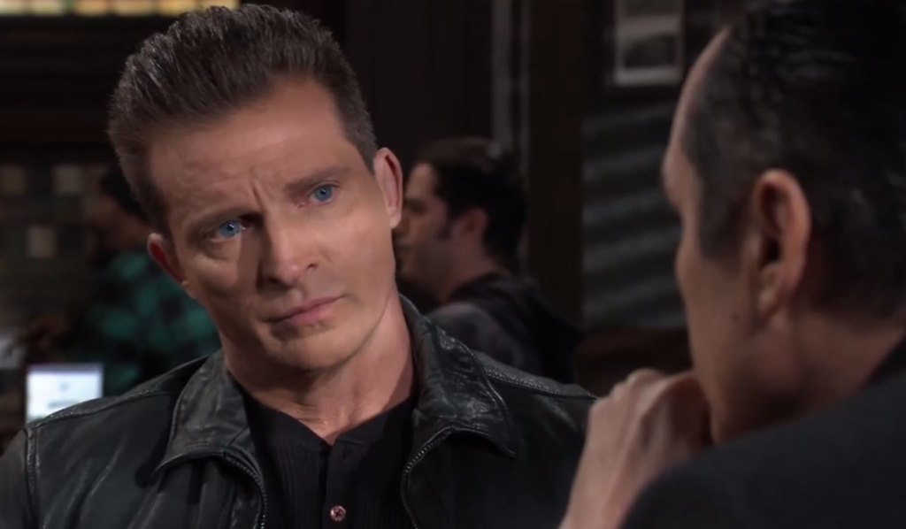 Jason and Sonny discuss a plan on General Hospital