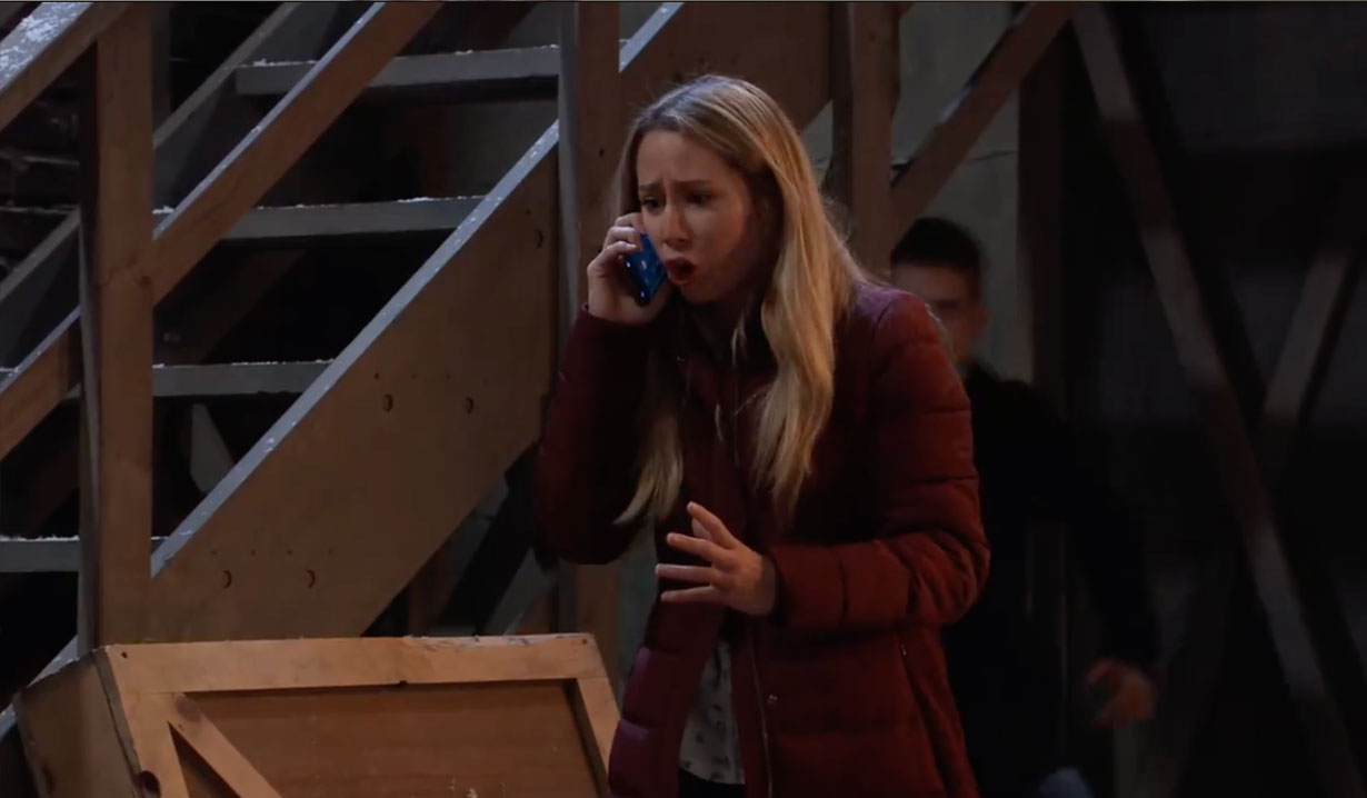 Joss phones the police on General Hospital