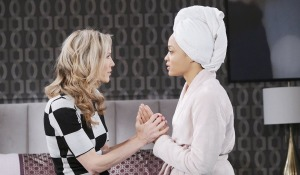 lani and kristen hold hands days of our lives