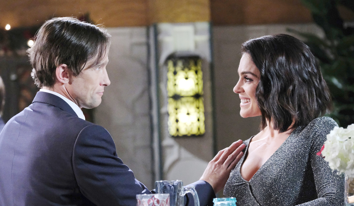 Philip and Chloe flirt at the Last Blast Reunion