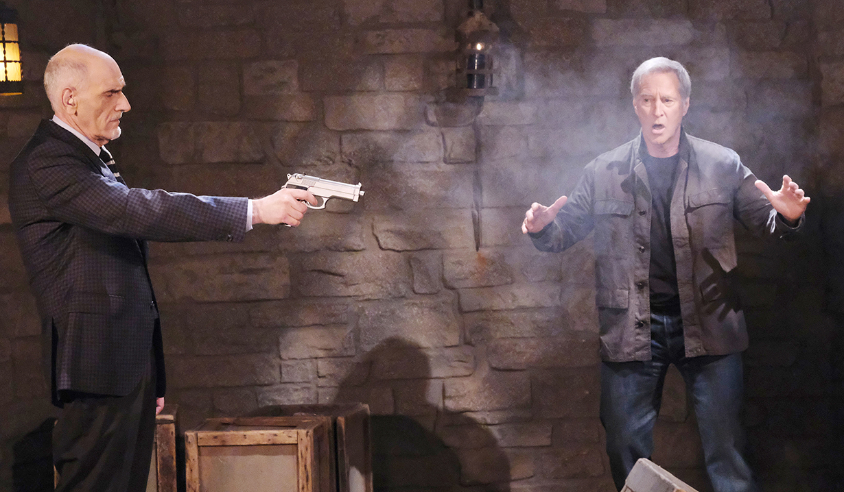 rolf shoots stefano with john in the room days of our lives
