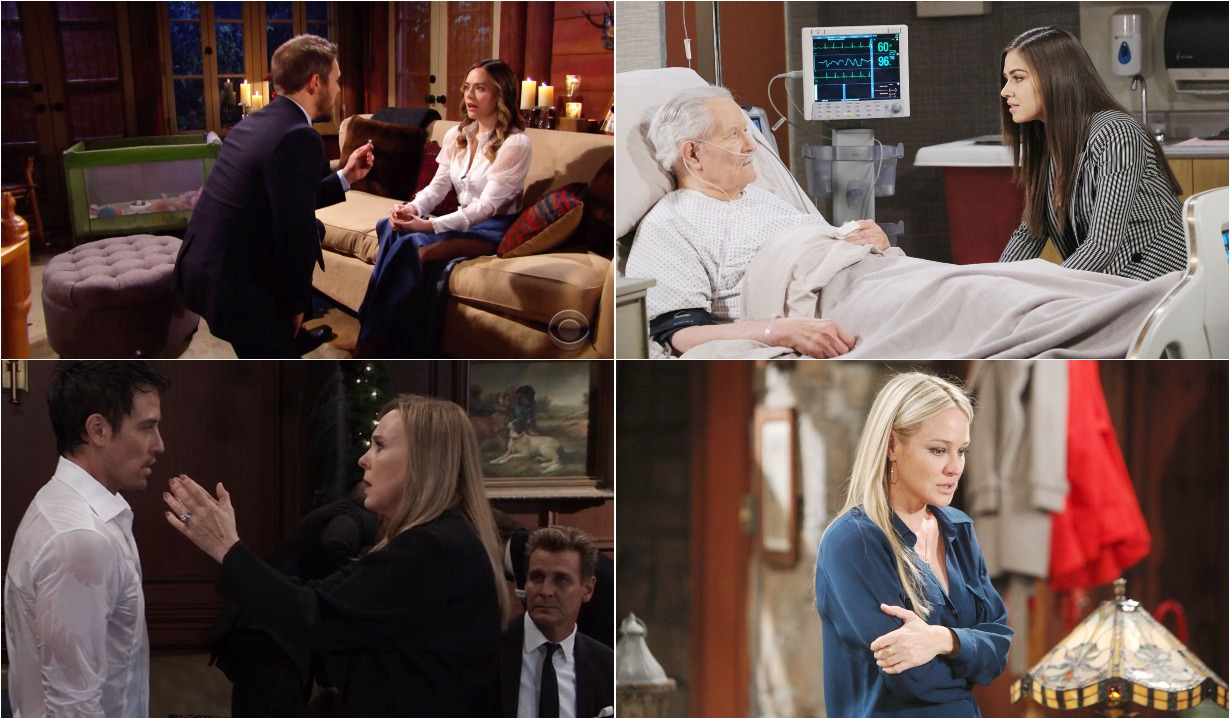 bold and beautiful days of our lives general hospital young and the restless roundup January 13