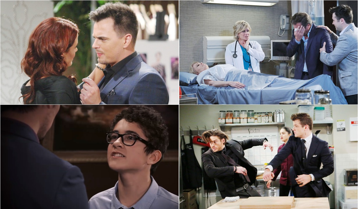 bold and beautiful days of our lives general hospital young and the restless roundup January 27