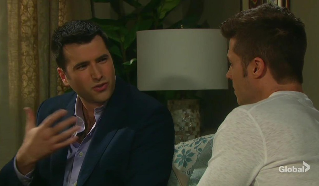 sonny and evan talk ben days of our lives