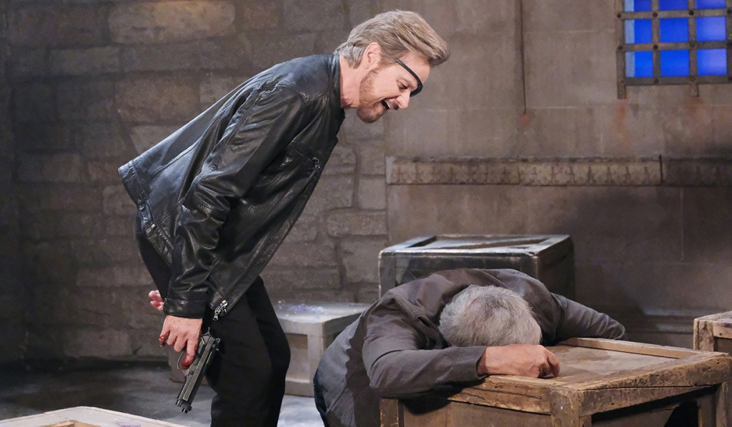 stefano laughs as john passes out days of our lives
