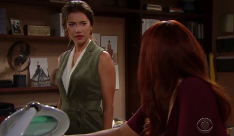 Steffy worries about Sally on The Bold and the Beautiful
