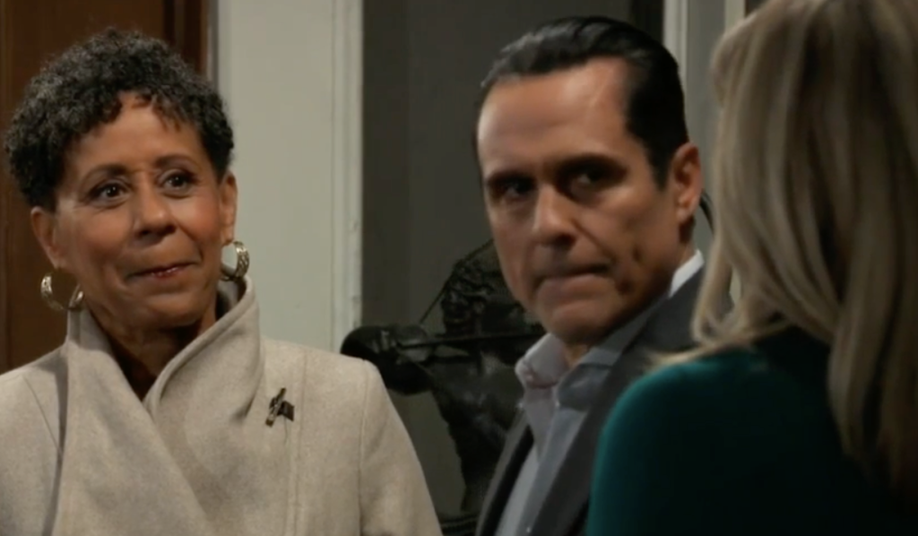 Stella visits Sonny and Carly on General Hospital
