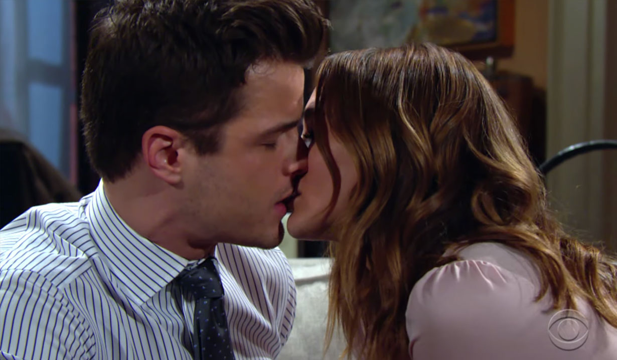 Summer and Kyle share a kiss on Young and the Restless