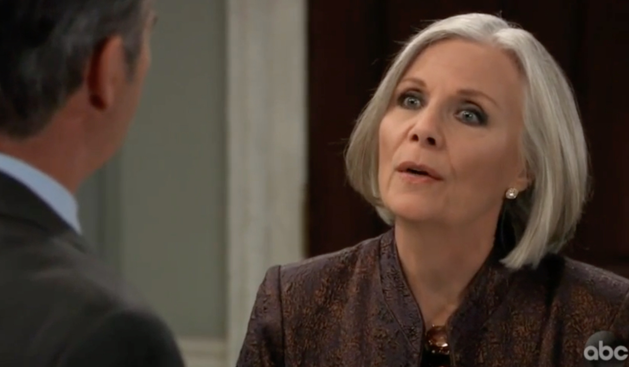 Tracy warns Ned on General Hospital