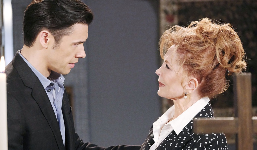 xander comforts maggie over victor days of our lives