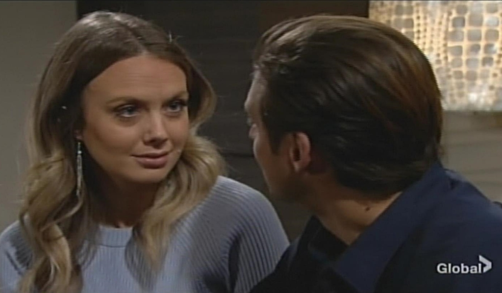 Abby, Chance talk Young and Restless