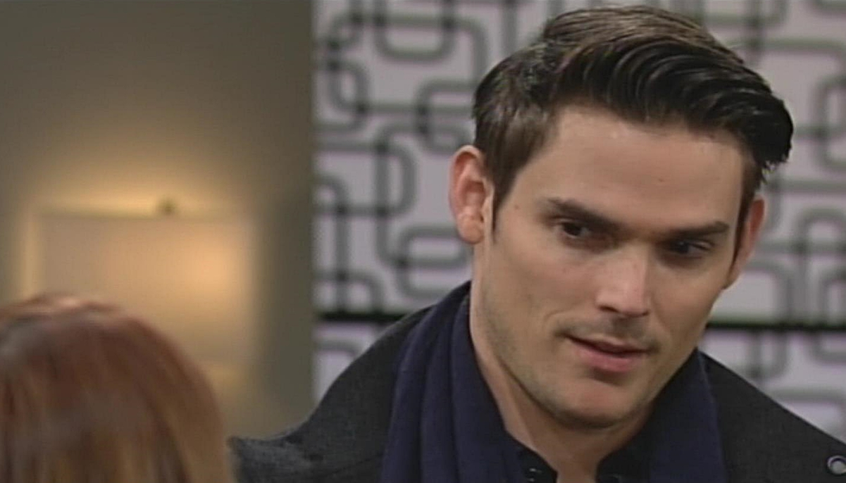 Adam studies Phyllis Young and Restless