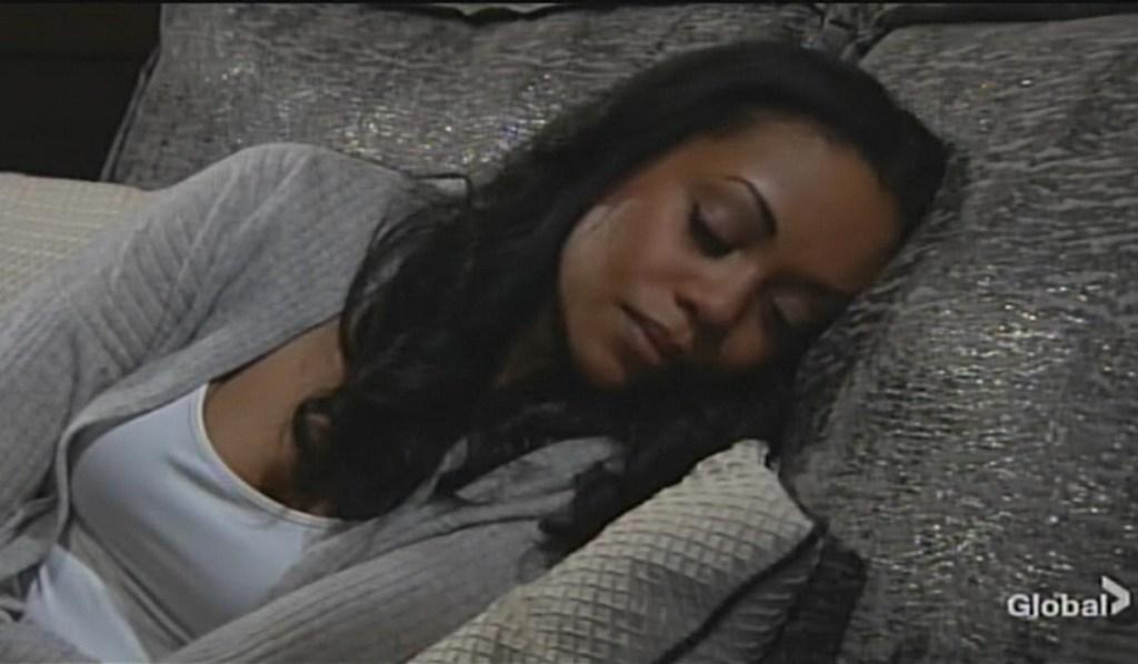 Amanda sleeping Young and Restless
