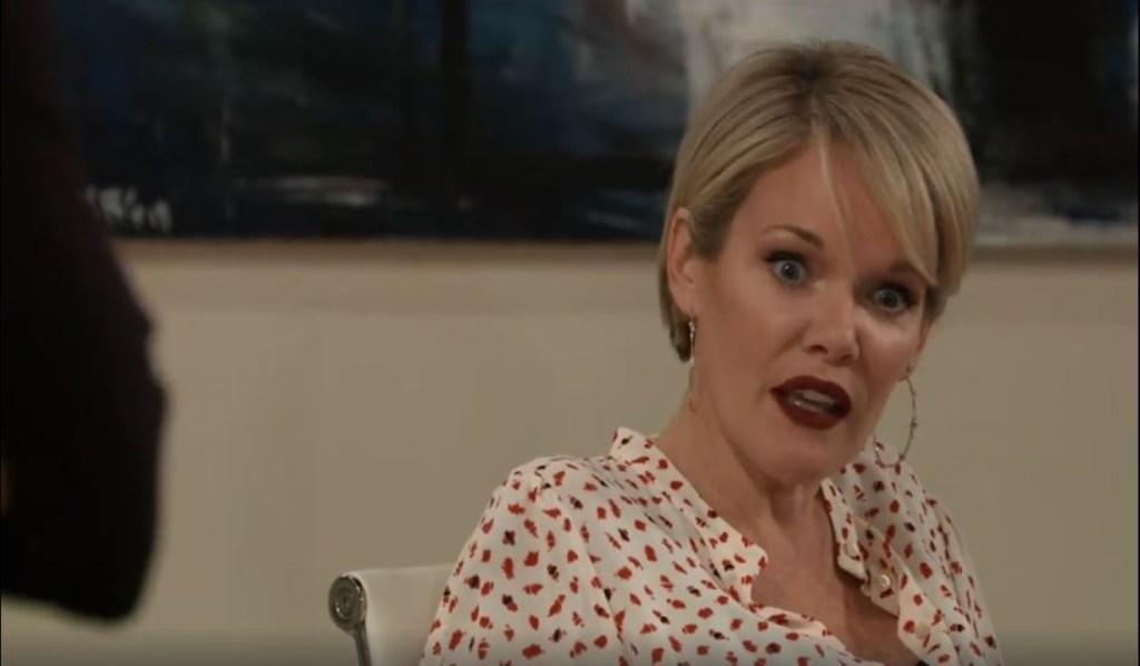 Ava tells Nina that Valentin will kill Jax at Jerome GalleryGeneral Hospital