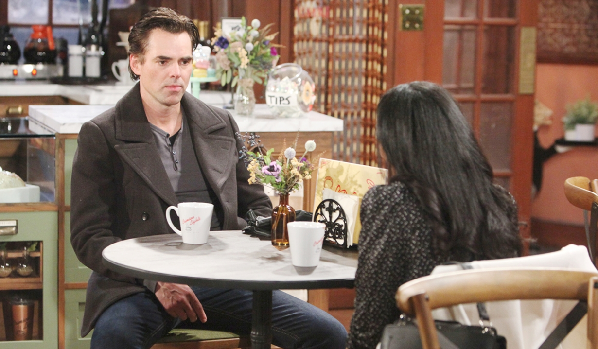 Billy, Amanda coffee Young and Restless