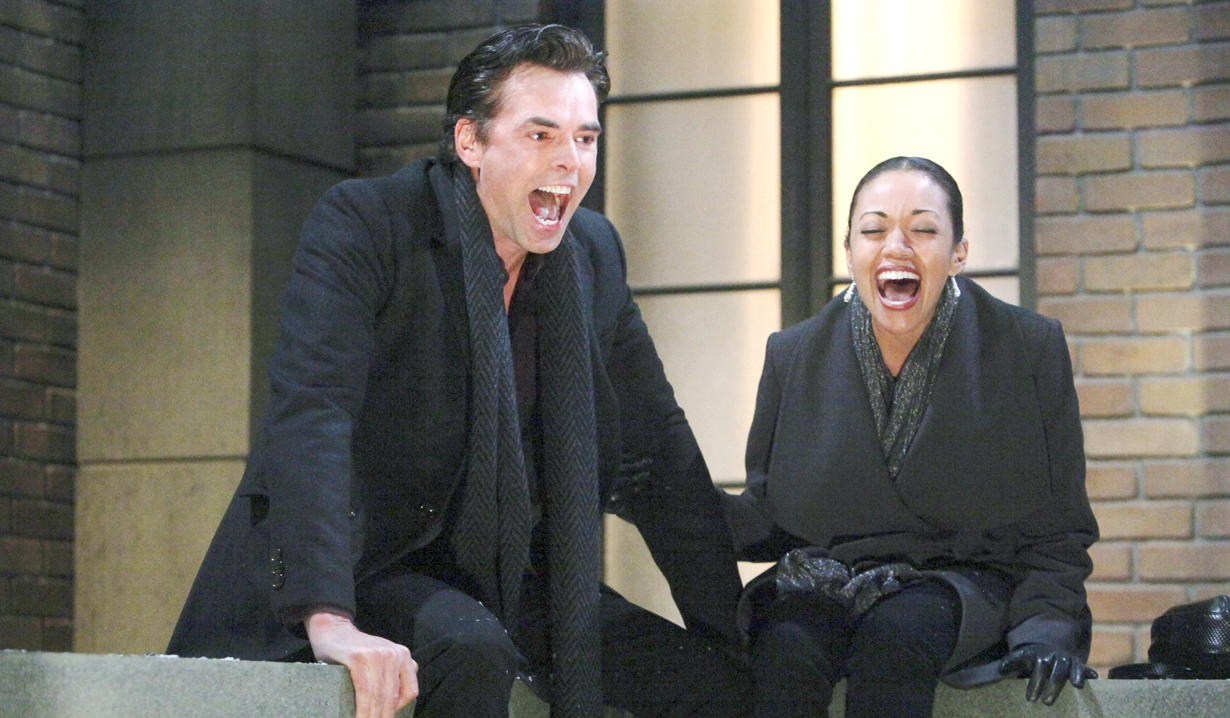 Billy, Amanda yell Young and Restless