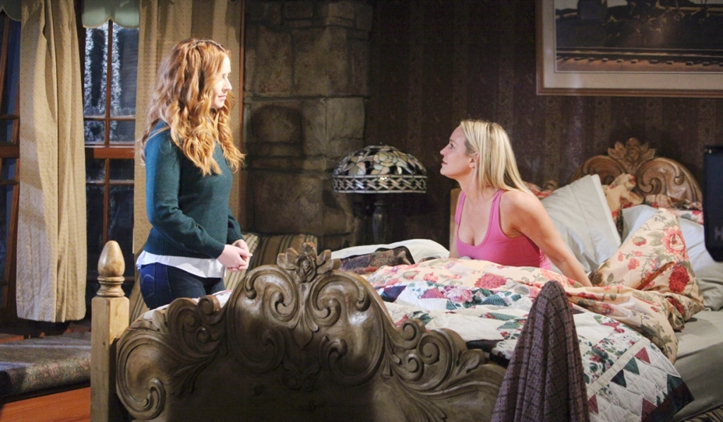 Cassie, Sharon bedroom Young and Restless