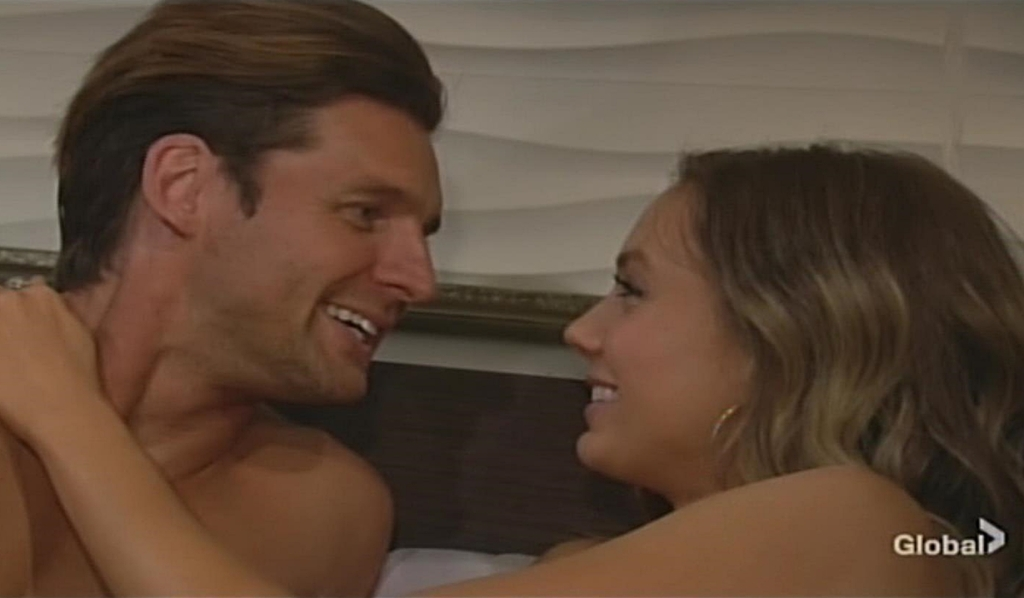 Chance and Abby in bed Young and Restless