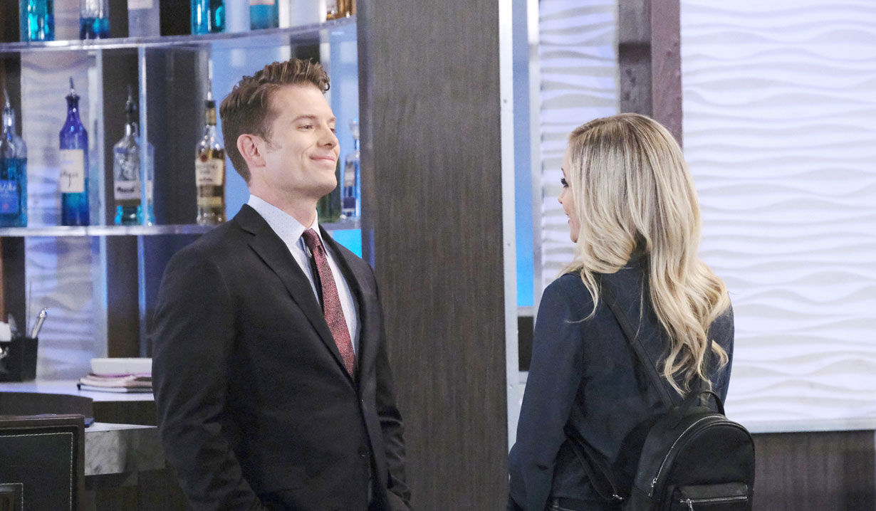 Dustin and Lulu at the Metro Court on General Hospital