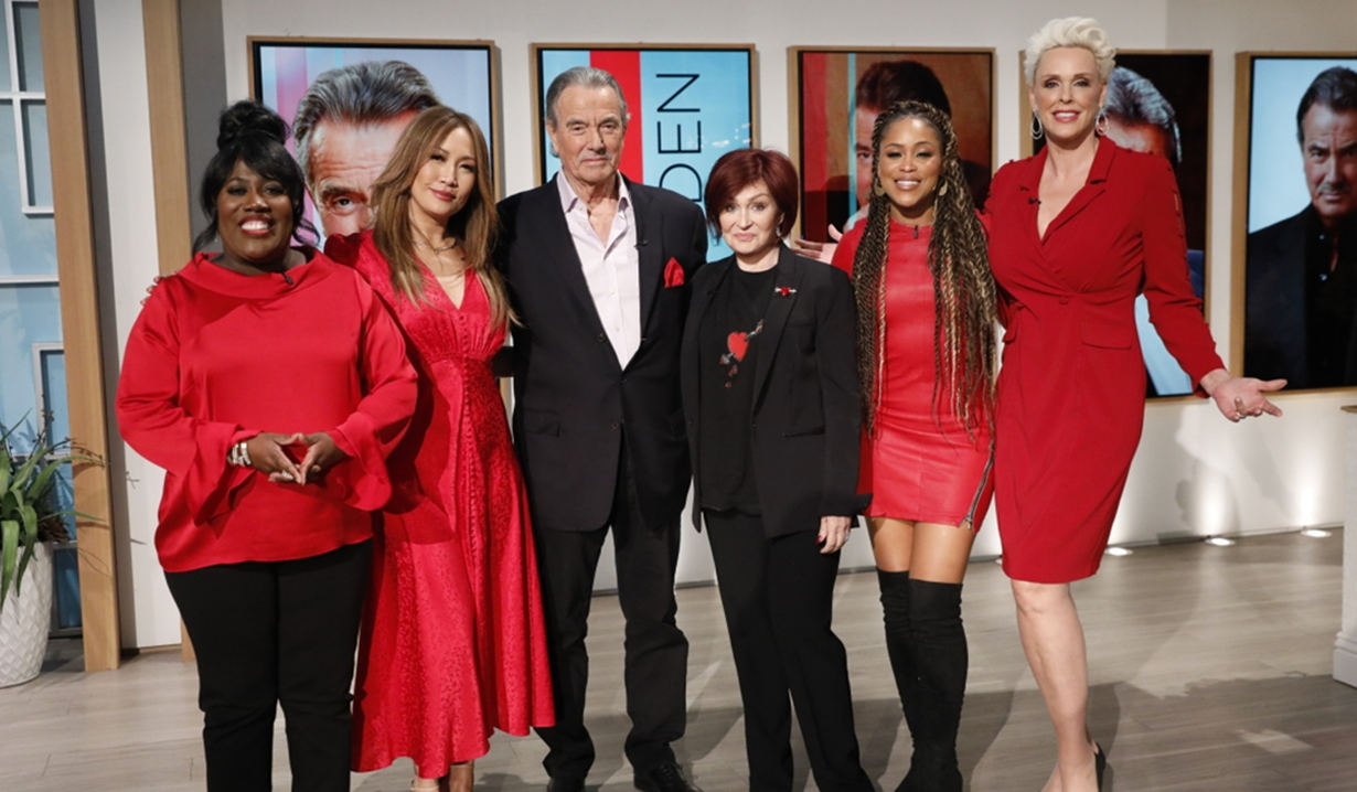 Eric Braeden with The Talk hosts Young and Restless