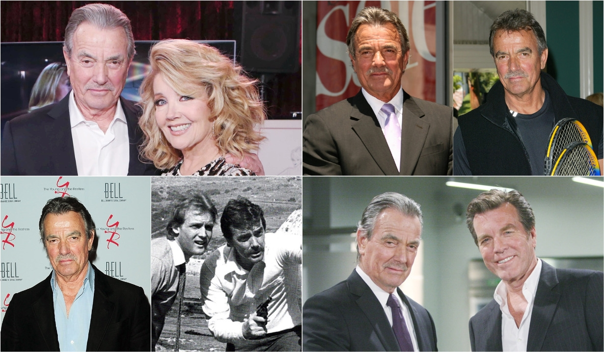 Eric Braeden collage 40 years Young and Restless