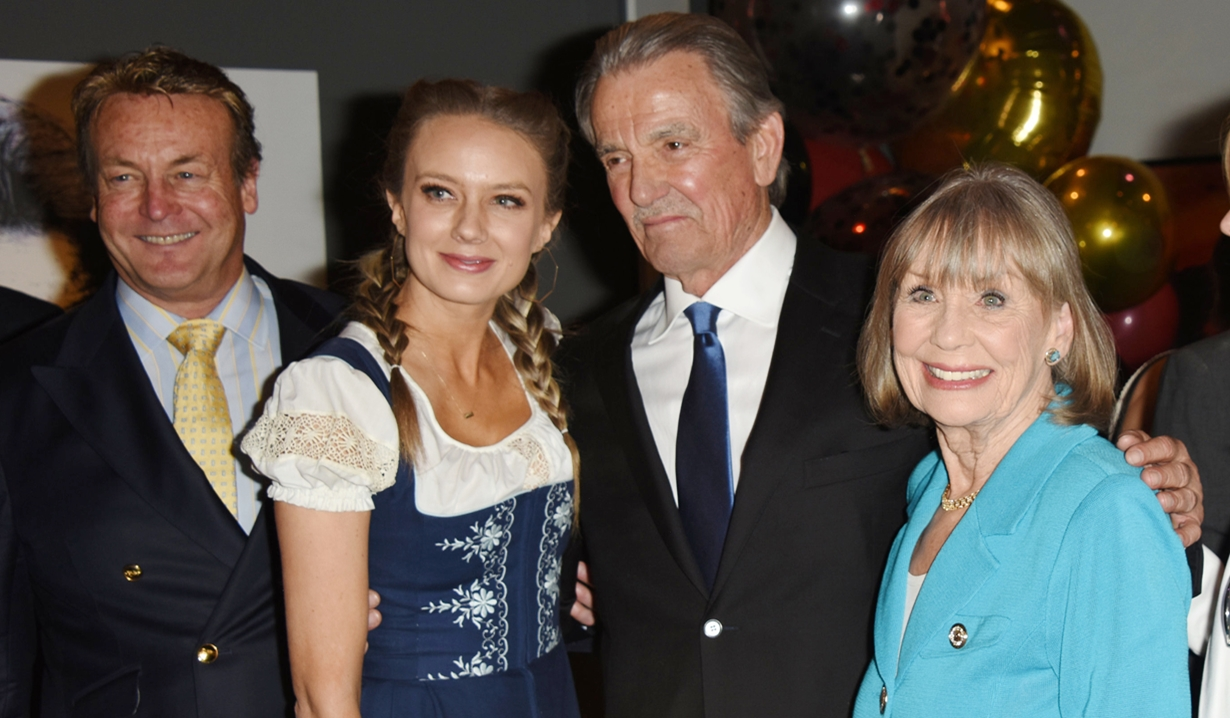 Eric Braeden, Doug Davidson, Melissa Ordway, Marla Adamson, party Young and Restless