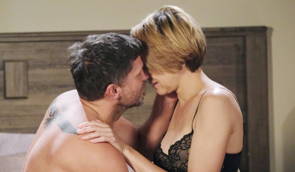 Eric, Nicole in bed Days of our Lives