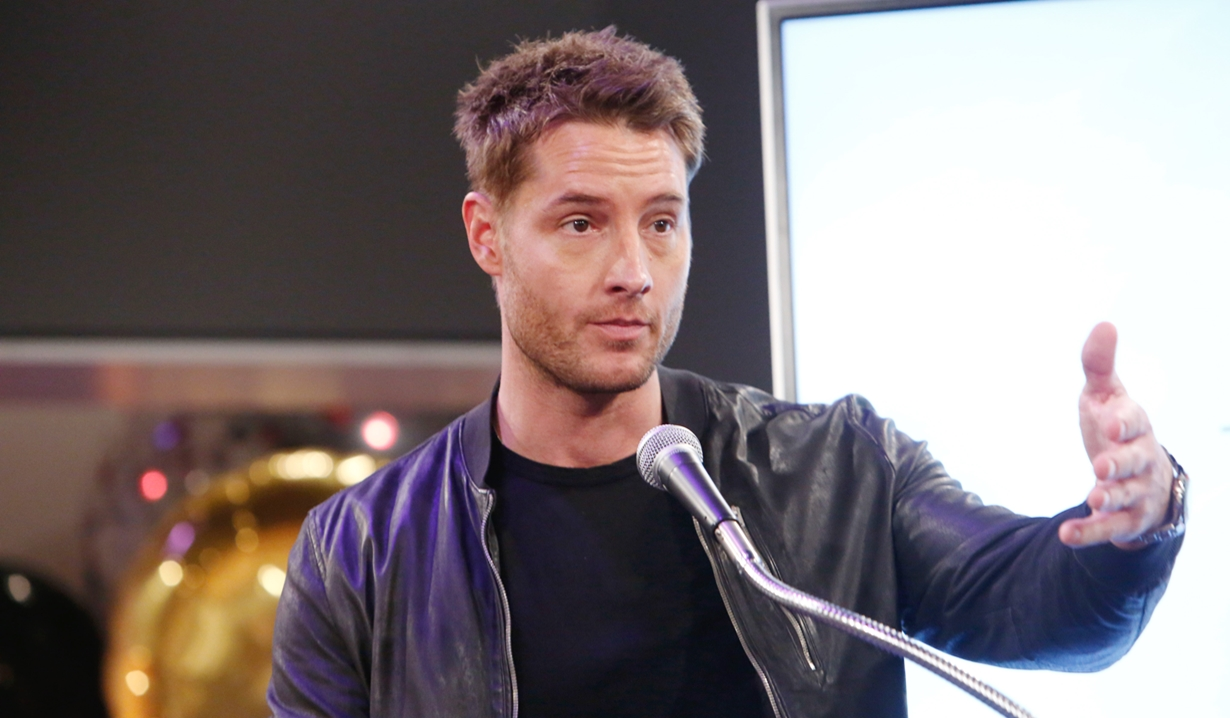 Justin Hartley at Eric Braeden party Young and Restless