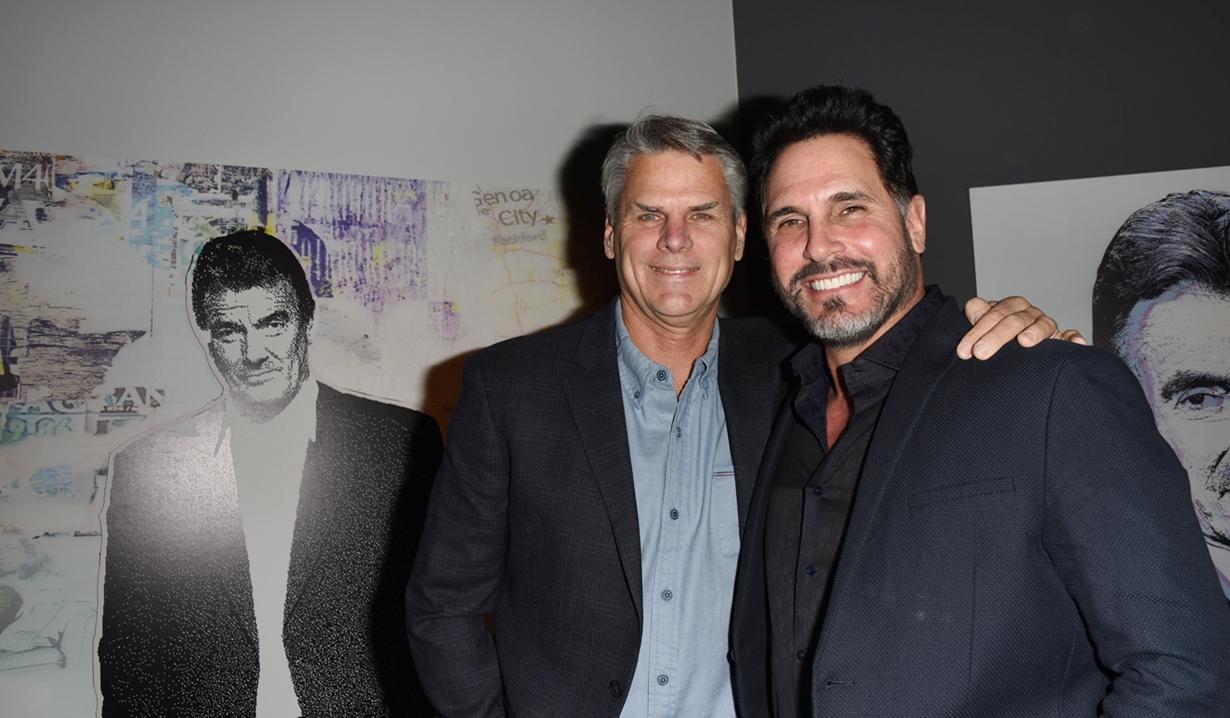 Robert Parucha, Don Diamont, Eric Braeden party Young and Restless