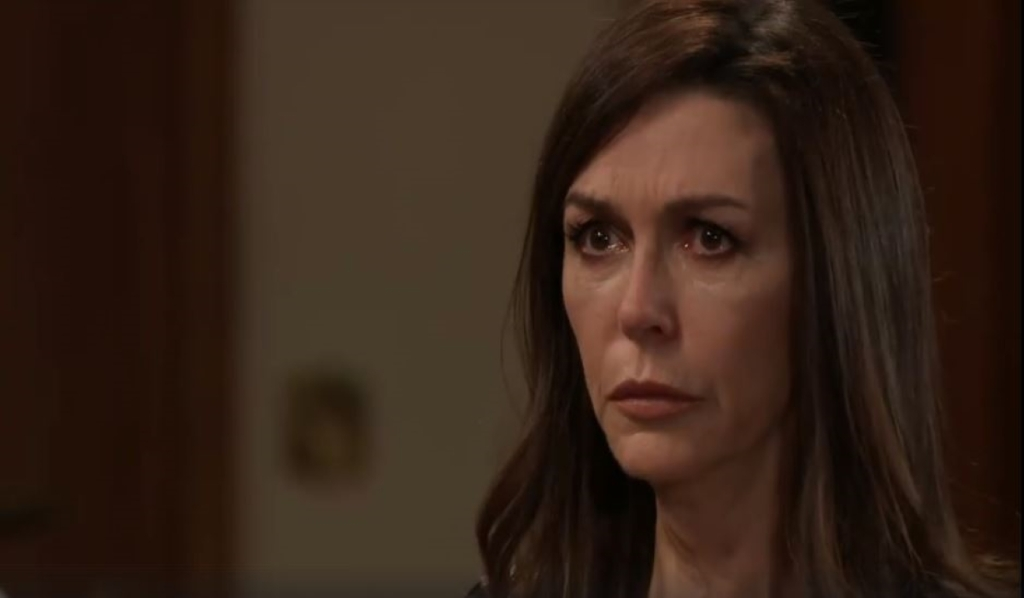 Finn lectures Anna about Peter's guilt at home General Hospital