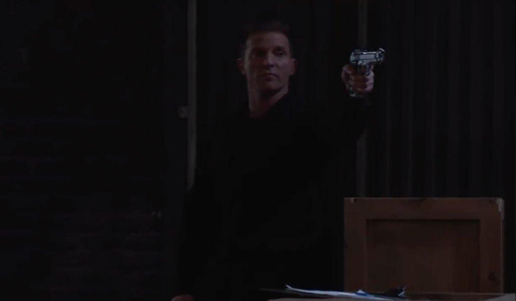 Jason pulls a gun at the docks on General Hospital