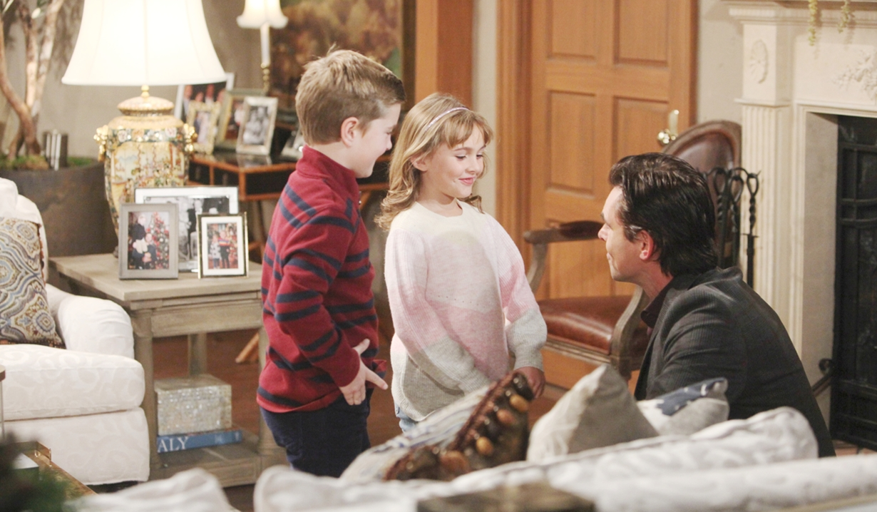 Johnny and Katie talk to Billy Young and Restless