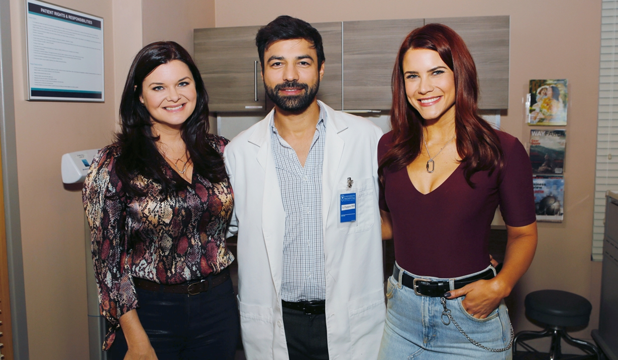 Katie, Dr. Pappas, Sally Bold and Beautiful
