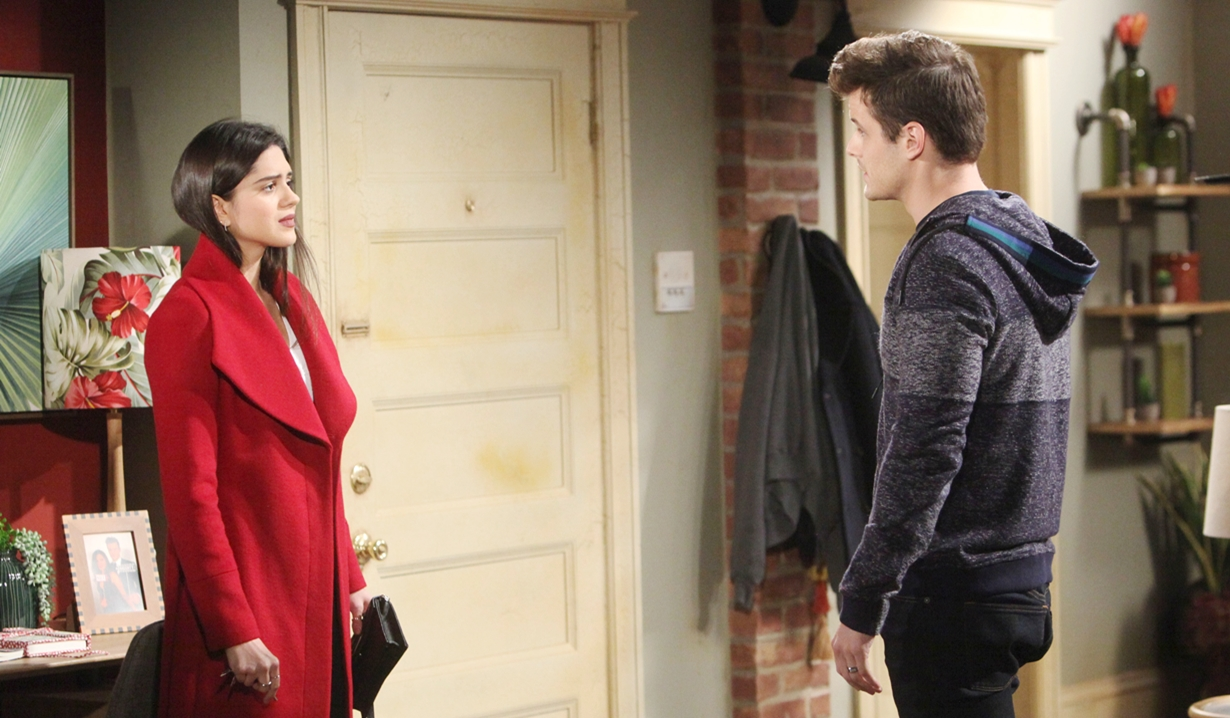 Kyle and Lola in their apartment Young and Restless