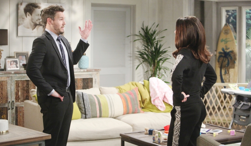 Liam, Steffy discuss Hope Bold and Beautiful