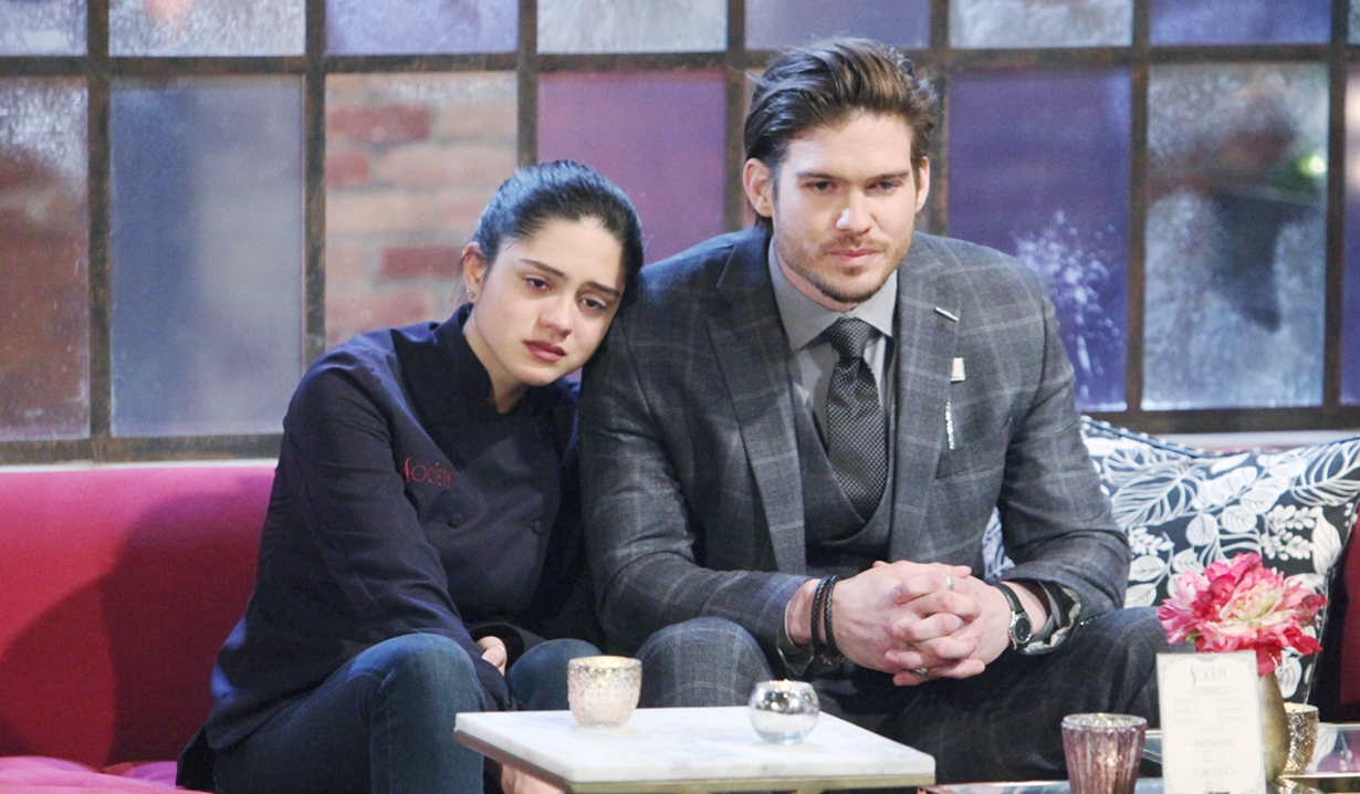 Lola, Theo comfort Young and Restless
