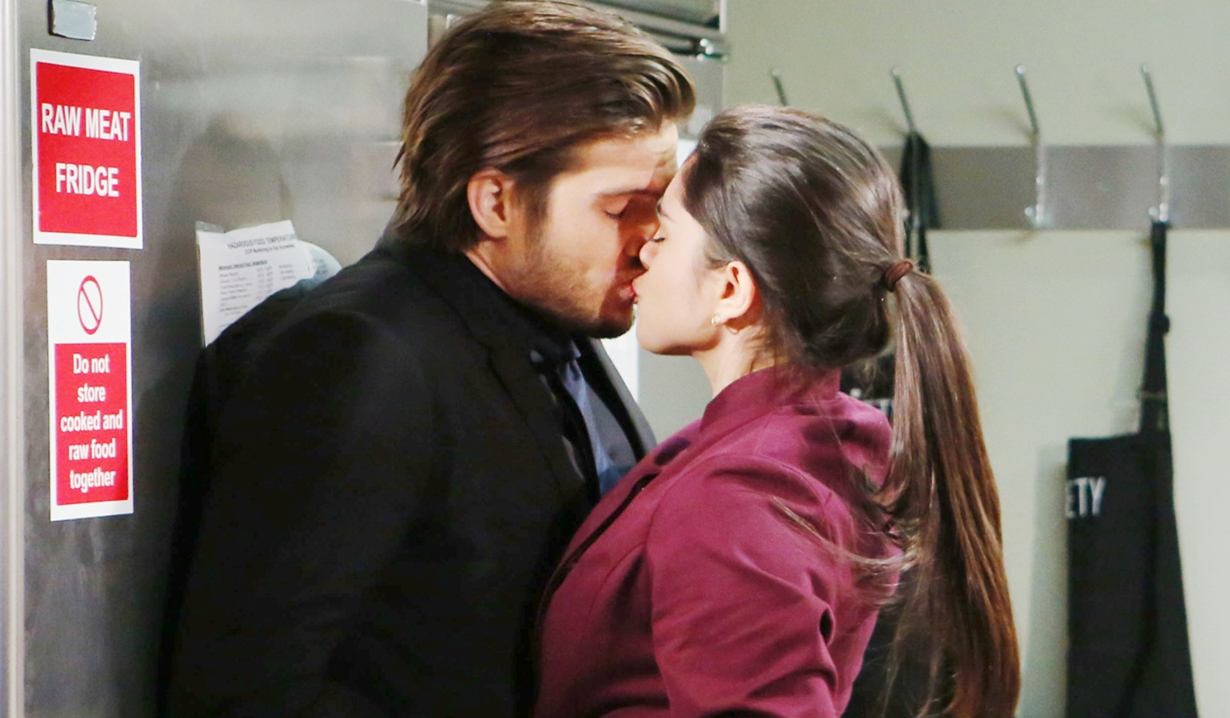 Lola, Theo kiss Young and Restless