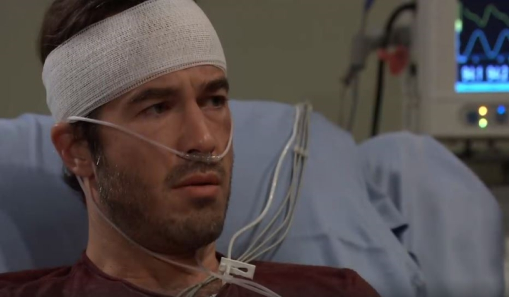 Lucas asks what Brad was going to confess at Turning Woods General Hospital