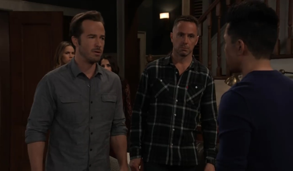 Lucas questions Brad about Wiley at Corinthos compound General Hospital