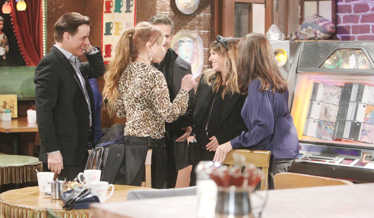 Michael, Lauren, Kevin, Chloe, Esther greet Young and Restless