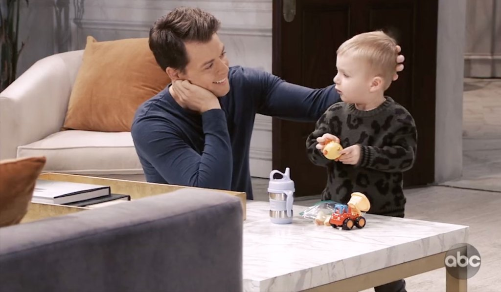 Michael bonds with Wiley on General Hospital