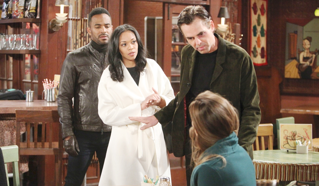 Nate, Amanda, Billy, Victoria confrontation Young and Restless
