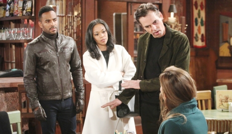 Nate, Amanda, Billy and Victoria argue publicly Young and Restless