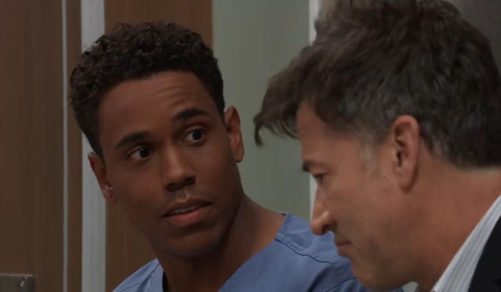 Neil gives TJ encouragement at General Hospital