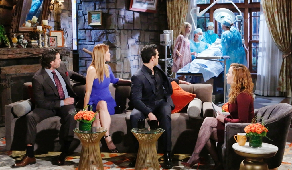Nick, Rey, Phyllis, Mariah, Sharon dream surgery Young and Restless