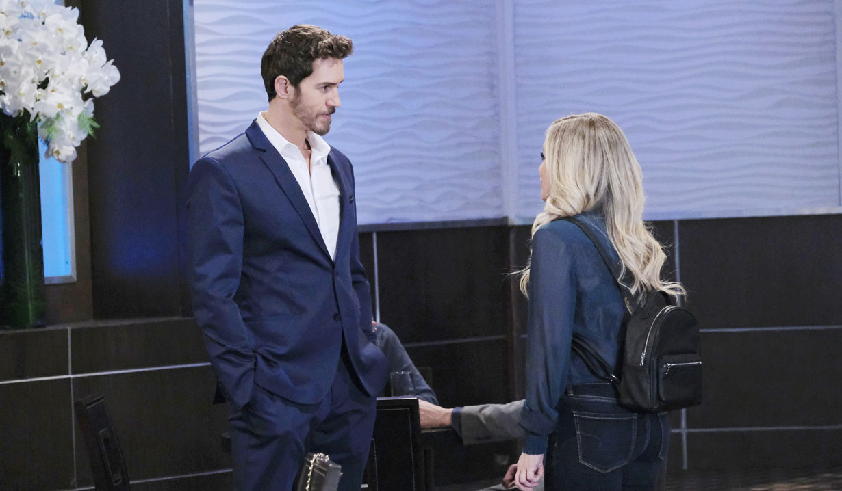 Peter runs into Lulu at the Metro Court on General Hospital