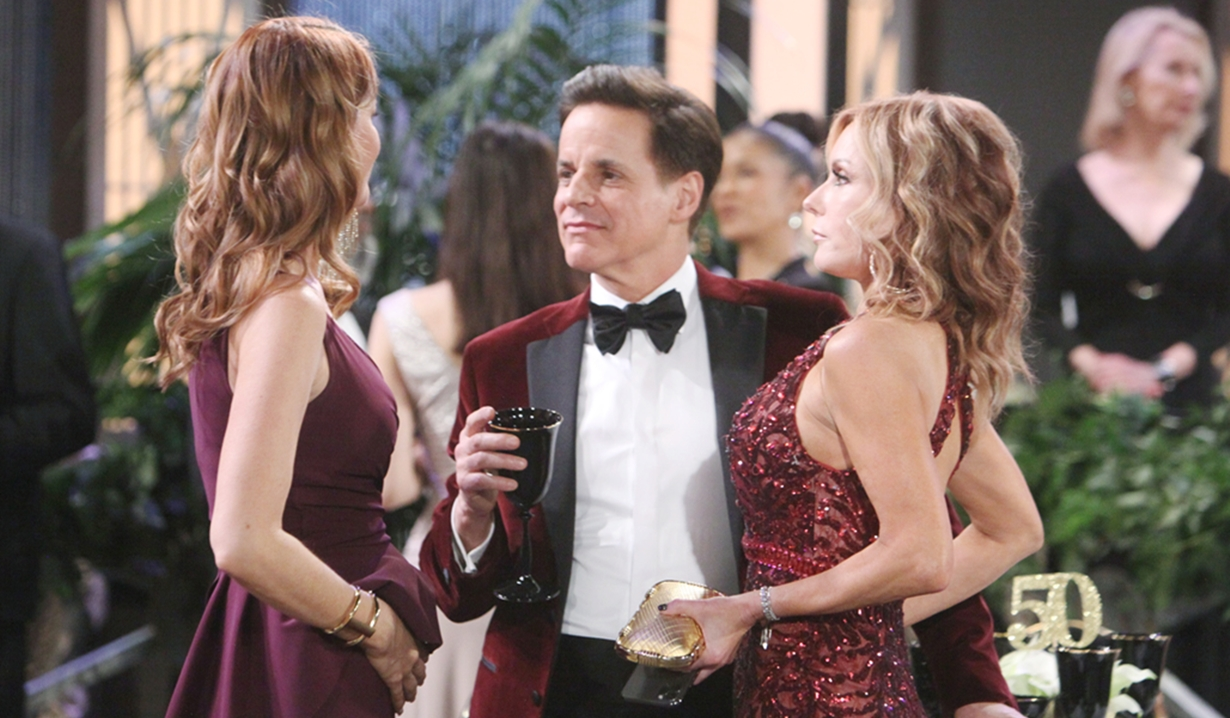 Phyllis, Michael, Lauren gala Young and Restless